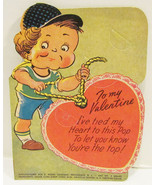 E. ROSEN VALENTINE LOLLIPOP HOLDER CARD ROPE HE... - $9.99