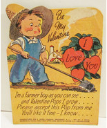 E. ROSEN VALENTINE LOLLIPOP HOLDER CARD FARMER ... - $9.99