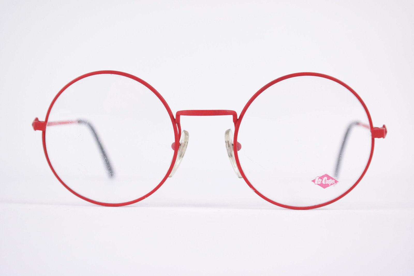 Authentic Lee Cooper Dallas Red Black Round Eyeglasses France Eyewear Unisex