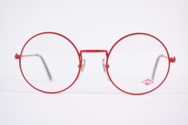 Authentic Lee Cooper Dallas Red Black Round Eyeglasses France Eyewear Unisex image 1