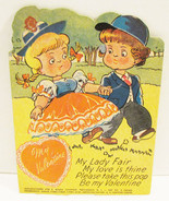 E. ROSEN VALENTINE LOLLIPOP HOLDER CARD 1940's ... - $11.99