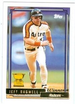 Jeff Bagwell baseball card 1992 Topps #520 Gold Winner (Houston Astros T... - $4.00