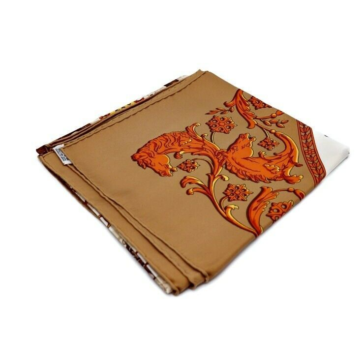 Scarf silk soil Ladies Auth to Hermes Carre 90 Longchamp