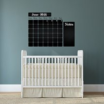 ( 63'' x 47'' ) Chalkboard Vinyl Wall Decal Calendar with Notes / Blackboard ... - $69.78
