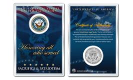 United States NAVY Emblem OFFICIAL JFK Half Dollar U.S. Coin in PREMIUM ... - $10.35