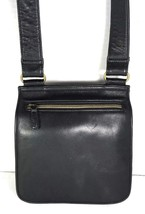 Fossil Vintage Black Smooth Leather Multi Pocket Multi Compartment Shoul... - $55.28