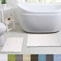 Aldante 2 Piece Chenille Bathroom Rug Set Non Slip Latex Back - $26.36