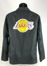 $98 LA Lakers Levi's Mens Sz Small Black Windbreaker Coaches Jacket NBA ... - $64.01