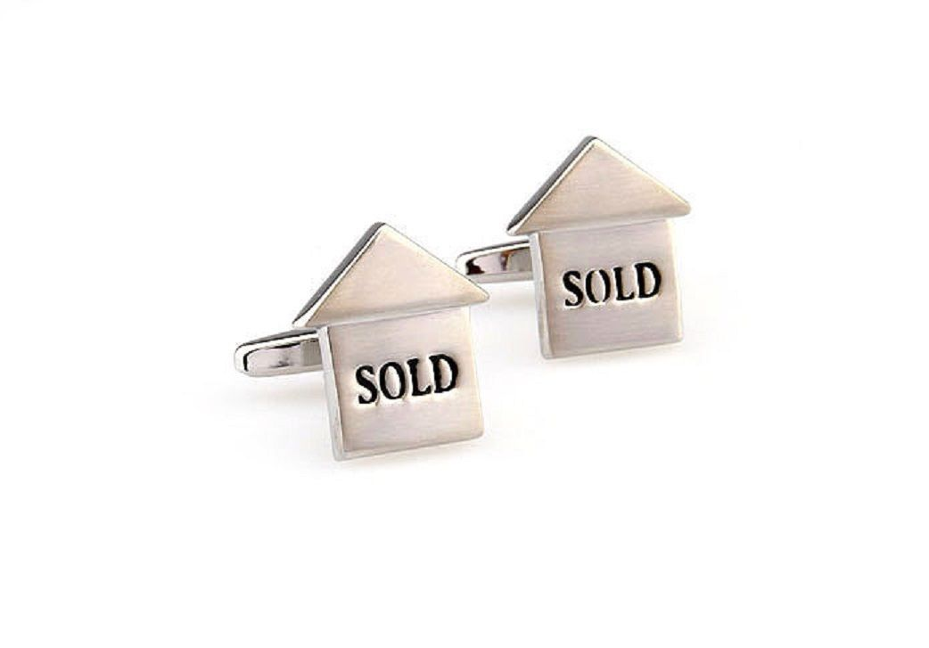 Wedding Gift Box Sign : Realtor Sold Sign Cufflinks Real Estate Wedding Fancy Gift Box Free ...