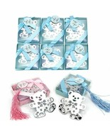 12Pcs/lot Wedding Bookmark Favors With Tassel & Gift Box Party Cute Bear... - $23.07