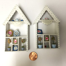 Choice of Handcrafted Miniature Dollhouse Shelf... - $23.99