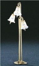 Town Sq. Miniature 3-Tulip Floor Lamp with Fluted Shade in Dollhouse Sca... - $19.95