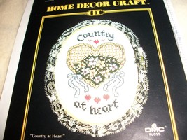 Country at Heart Counted Cross Stitch Chart - $4.00
