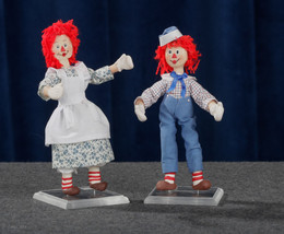 Raggedy Ann and Andy Miniature Dolls By Artist OOAK - Dollhouse Scale1:12 - £105.77 GBP