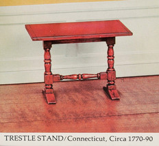 House of Miniatures KIT#40072 Connecticut TRESTLE TABLE -Dollhouse Scale... - $28.98