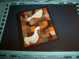 Two Geese Large Telephone Book Cover Plastic Canvas Chart - $4.00