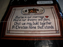 A Christian Home Counted Cross Stitch Chart - $4.00