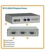 Tripp Lite B112-002-R Manual VGA/SVGA 3xHD15F 2... - $19.95