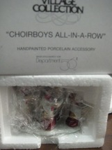 Heritage Village Choirboys All-In-A-Row Department 56 Dickens Village - $10.00