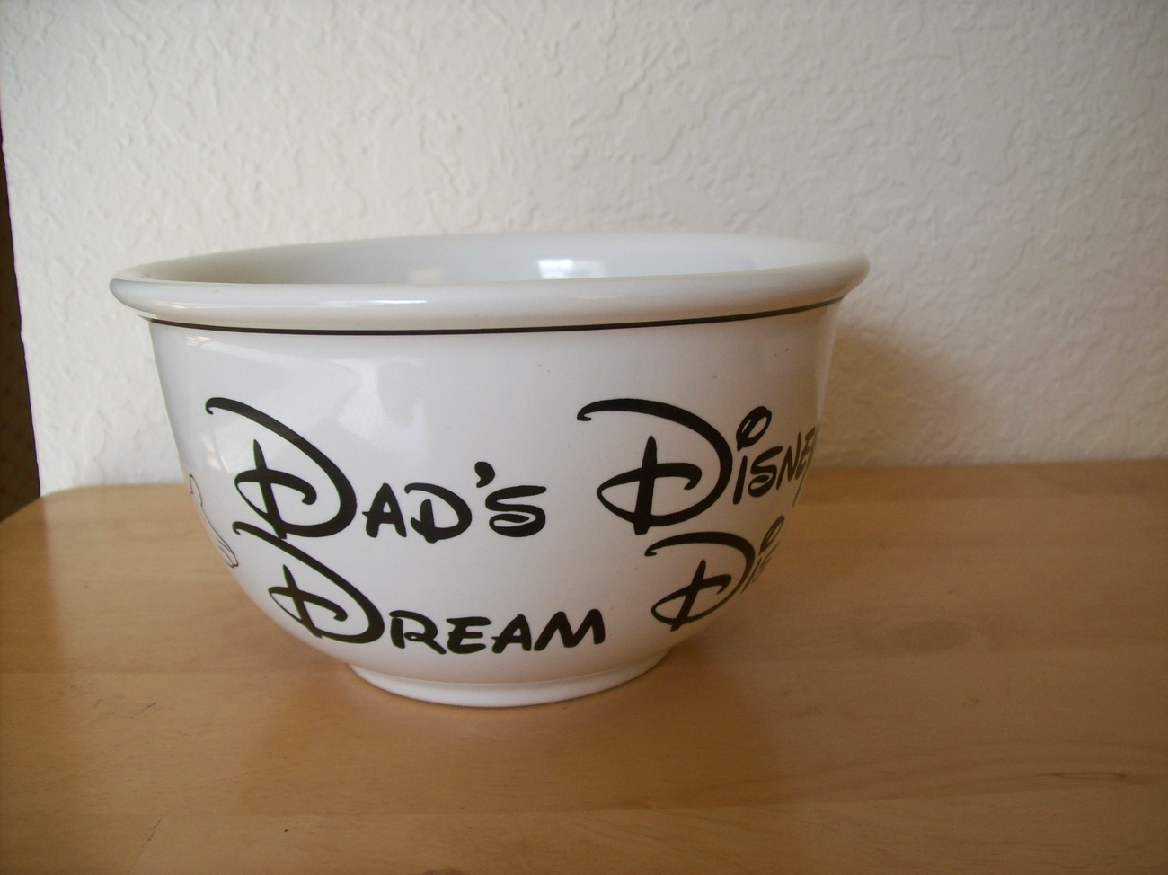 "Primary image for Mickey Mouse ""Dad's Disney Dream Dish"" Bowl"