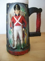 1970 Vintage Napco Red Coat 1776 Red Coat Ceramic Tall Beer Stein - $25.00