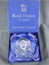 Royal Doulton Crystal Faceted Handmade Paperweight England 30% Full Lead... - $47.45