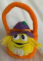 M&M Orange Scarecrow Halloween Mini Plush Candy Bag Basket 2003 Mars Gal... - $11.87