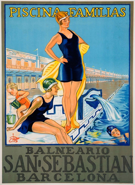 3328.Balneario San Sebastian Barcelona Spain Travel POSTER.Home Room art decor