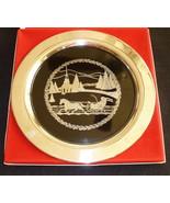 Oneida Vintage 1978 Christmas Plate Tray Sleigh Ride Scene Silverplate L... - $16.95