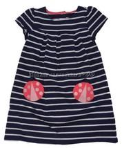 Gymboree Pretty Poppy 2T Navy Striped Ladybug Dress Blue Pink - $22.35