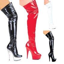 "ELLIE 609-FANTASY 6"" Pointed Stiletto Heel Thigh High Stretch Boots, Bla... - $81.83"