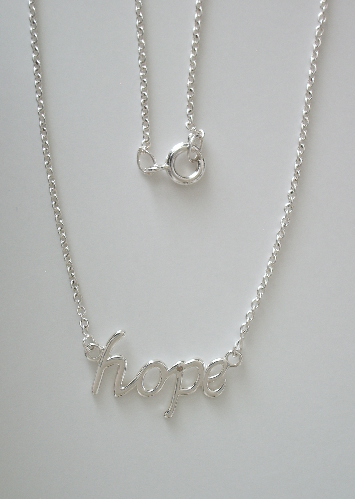 "Primary image for Sterling Silver Hope Pendant w/ 18"" 1.7 mm Sterling Silver Cable Chain"