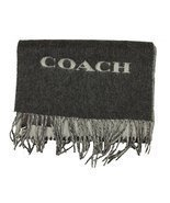 Coach Mens Bi Color Double Face Wool Scarf in Charcoal Grey85134 - £55.66 GBP