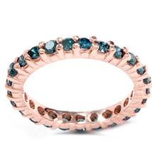 1 1/2ct Prong Diamond Eternity Ring 14K Rose Gold - £331.41 GBP