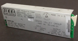 NEW - TODD DC Power Supply 2XS12465 / PE1240-01 GRASS VALLEY -  FAST SHI... - $89.05