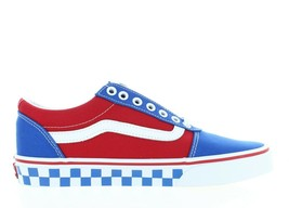 Men's Vans Ward VN0A38DMV0X (Checker Tape) RED/BLUE White Ds Brand New - $42.50