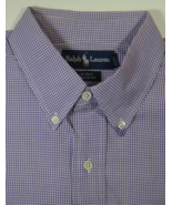 "POLO RALPH LAUREN Lg ""BLAKE"" Rich Purple Gingham Plaid Dress Shirt - $99.99"
