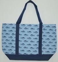 MB M730FINN Finn Tote Bag Color Blue Navy Fish Polyester image 1