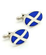 SCOTLAND FLAG CUFFLINKS Saint St Andrews Cross Saltire Scottish NEW w GI... - $11.95