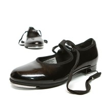 BLOCH Tap Shoes Girl Size 12.5 Black Leather Mary Jane Techno Tap #5T #4H Dance - $18.83