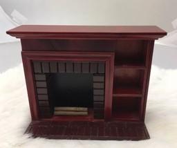Miniature Red Cherry Brick Fireplace Logs DOLLHOUSE 1/12 Shelves - $13.99