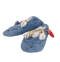 Women's 3 Pack Sherpa Lined Soft Christmas Holiday Reindeer Slippers Socks Shoes image 9