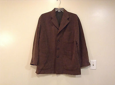 Light and Dark Brown Stripes Byblos Light Weight Blazer No Size Tag Vintage