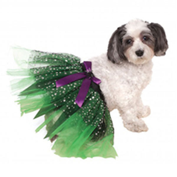 Witch Dog Tutu with Stars Halloween Costume