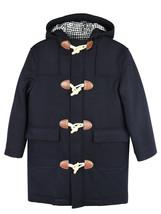 Brooks Brothers Boys Wool Blend Duffle Hooded Coat - $123.76