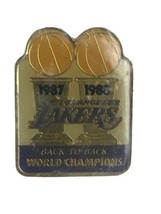 Vintage Los Angeles Lakers 1987 1988 Back to Back World Champions Lapel ... - $12.17