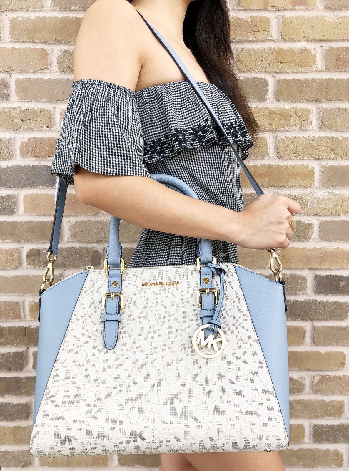 a3b9d055c1a6 Michael Kors Ciara Saffiano Large Top Zip and similar items. S l1600
