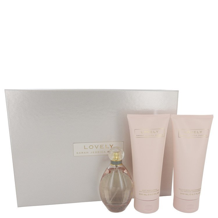 Sarah Jessica Parker Lovely 3.4 Oz Eau De Parfum Spray 3 Pcs Gift Set