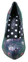 Iron Fist Raie Bisou Bout Pointu Noir Sequin Talon Plateforme Pompe Chaussures image 5