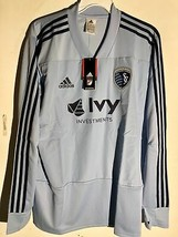 Adidas Long Sleeve MLS Jersey Kansas City Sporting Team Grey sz S - $29.69